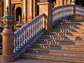 Bridge in Plaza de Espana, Seville Royalty Free Stock Images