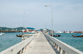 Bridge port over the water at phuket thailand Stock Images