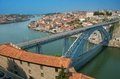 Bridge in porto dom luis Royalty Free Stock Photo