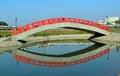 Bridge reflection Royalty Free Stock Photo