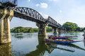 The bridge of the river kwai kanchanaburi thailand created world war Stock Photo