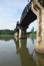 Bridge of the River Kwai is known as the Death Railway Royalty Free Stock Photo