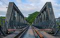Bridge river kwai over in kanchanaburi thailand Stock Images