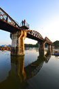 The Bridge of the River Kwai in thailand Stock Image