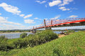 Bridge on the river vistula in kwidzynie poland Royalty Free Stock Images