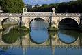 Bridge in Rome Stock Images