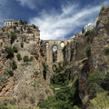 The bridge of ronda spain most famous and tallest in andalusia towering ft above canyon floor between old and new cities Stock Photography
