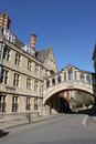 Bridge of sighs over new college lane oxford hertford also known as the links two parts hertford at university england and Royalty Free Stock Photo