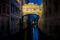 Bridge of Sighs (Ponte dei Sospiri) at night. Venice landmark. Royalty Free Stock Photo