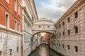 Bridge of Sighs in Venice, Italy Royalty Free Stock Photo