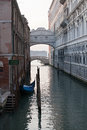 Bridge of sighs in venice ponte dei sospiri and canal view Stock Photo