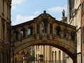 Bridge of sights in oxford the england sunny ambiance Stock Photos