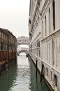 Bridge of sights in venice and grand canal italy europe Stock Photography