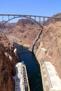 Bridge spanning the Hoover Dam Royalty Free Stock Photo