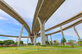 Bridge structure for support transport cross ring road Royalty Free Stock Photography
