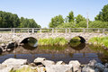 Bridge in sweden stone southern Stock Photos