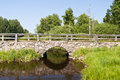 Bridge in sweden stone southern Royalty Free Stock Photography