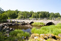 Bridge in sweden stone southern Royalty Free Stock Images