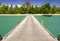 A bridge to the paradise island Royalty Free Stock Photo