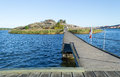 Bridge to a small island in Karlskrona Stock Images
