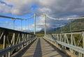 Bridge to Villa O Higgins, Carretera Austral, Chile Royalty Free Stock Photo