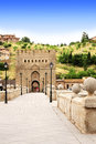 Bridge of toledo spain famous in Stock Images