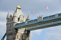 Bridge tower of london on the thames in Stock Photos