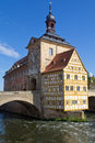 Bridge town hall in Bamberg, Bavaria Stock Image