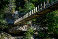 Bridge at turkey run park sugar creek state in marshall indiana is a beautiful place for camping and hiking rafting and relaxing Royalty Free Stock Photography