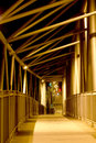 Bridge walkway night view from a modern vertical no people Stock Photography