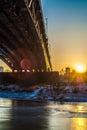 Bridge in warsaw over wisła Stock Image