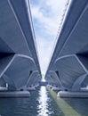Bridge on water mode of transportation Royalty Free Stock Photography