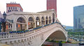 Bridge white in macao looks like in venice part of the casino entrance venetian Royalty Free Stock Images