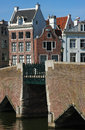 Bridges and houses of amsterdam traditional dutch the bridge near canal in netherlands Stock Photo