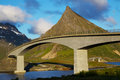 Bridges on Lofoten Royalty Free Stock Photography