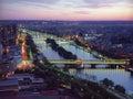 Bridges of Paris on a decline Royalty Free Stock Photo