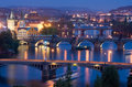 Bridges of Prague Royalty Free Stock Photo