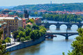 Bridges in Prague, Czech Republic Stock Photography
