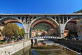 Bridges in Sori, Italy Stock Photos