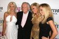 Bridget Marquardt, Holly Madison, Hugh Hefner, Kendra Wilkinson Stock Photo