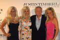 Bridget marquardt holly madison hugh hefner kendra wilkinson hollies justin timberlake and with and at the album release party for Stock Images