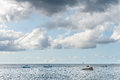 BRIDGETOWN, BARBADOS - MARCH 11, 2014: Caribbean Sea with Boats and Yachts in Barbados. Caribbean Sea Island. Royalty Free Stock Photo