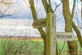 Bridleway Sign Stock Photo