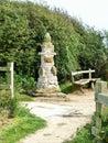 Bridlington to flamborough head coastal path walking along Royalty Free Stock Photo