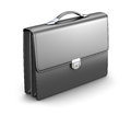 Briefcase black men on white background d illustration Royalty Free Stock Photography