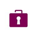 Briefcase lock logo concept Royalty Free Stock Photo