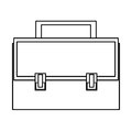 briefcase with locks and handle Royalty Free Stock Photo