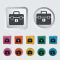 Briefcase single icon vector illustration Royalty Free Stock Image