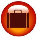 Briefcase web button Royalty Free Stock Photo