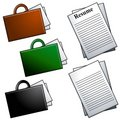 Briefcases and Resume Clip Art Royalty Free Stock Photography